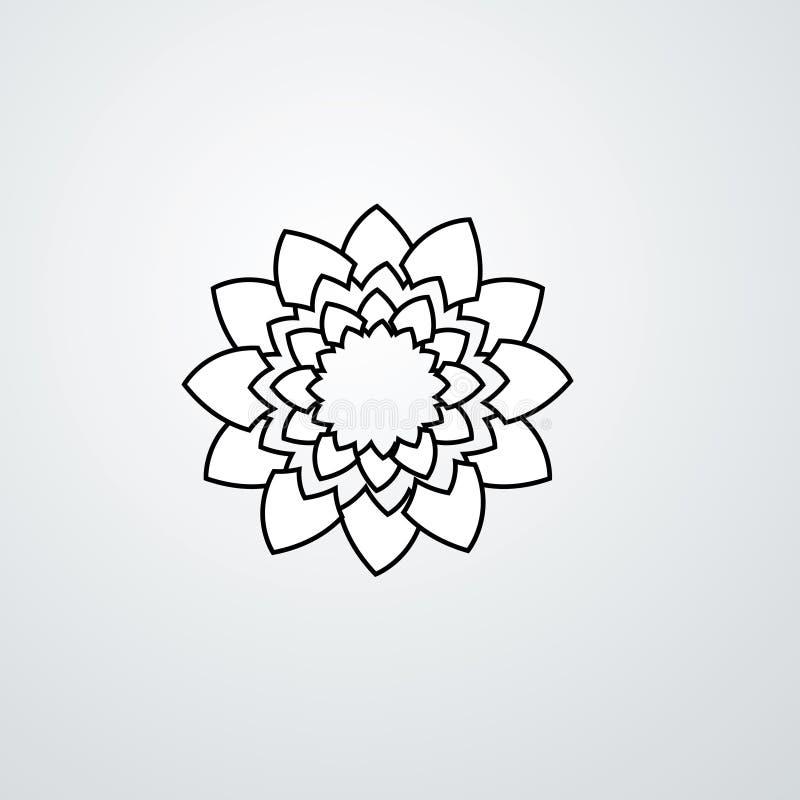 Logo de vecteur de rosette Logo de vecteur de diamants Logo de bijoux illustration de vecteur