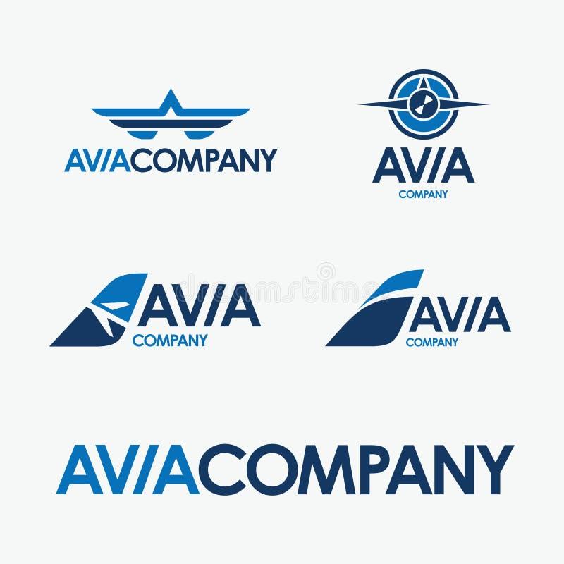 Logo de vecteur de société d'Avia illustration de vecteur