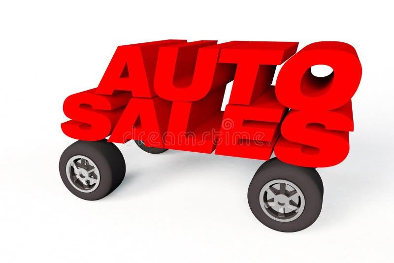 Logo de ventes automatiques sur des whells de voiture illustration libre de droits