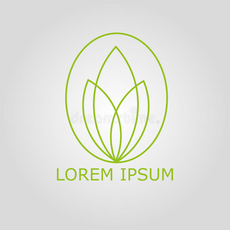 Logo de vert de Lotus images libres de droits