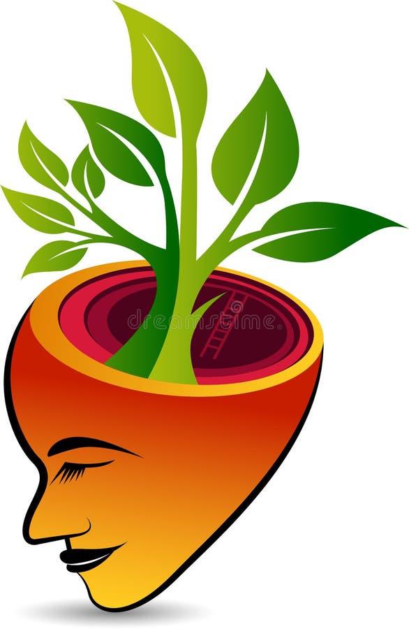 Logo de visage d'arbre illustration de vecteur
