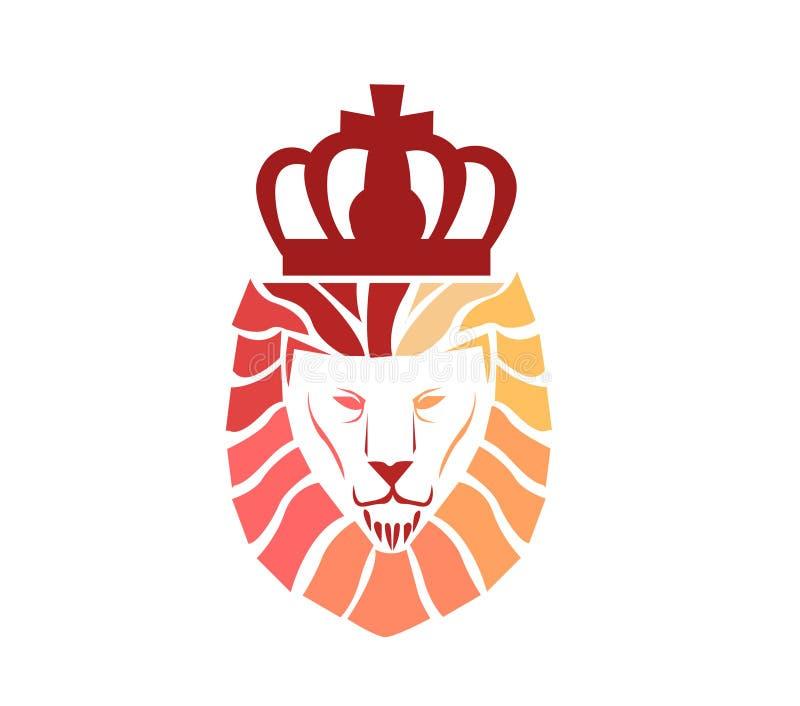 Logo de visage de lion illustration stock