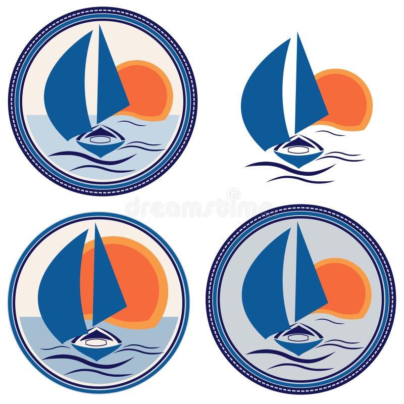 Logo de voilier de bateau image libre de droits