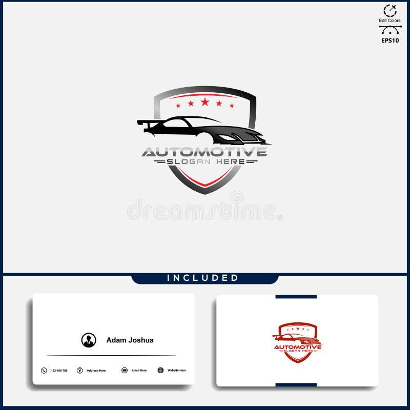Logo de voiture, concept de construction abstrait de voiture, calibre des v?hicules ? moteur de conception de logo de voiture illustration libre de droits
