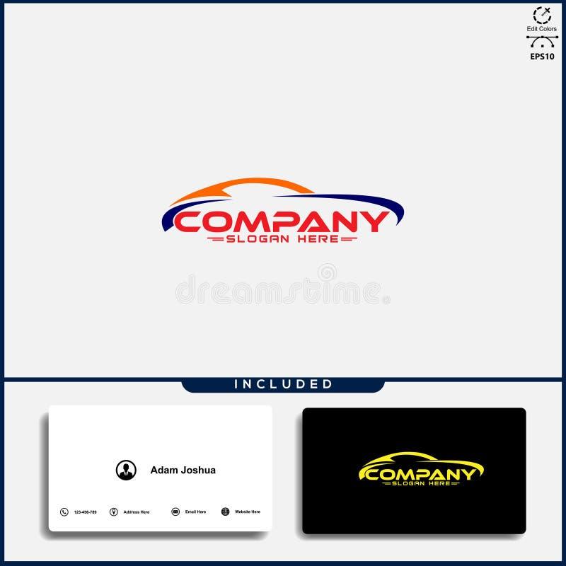 Logo de voiture, concept de construction abstrait de voiture, calibre des v?hicules ? moteur de conception de logo de voiture illustration stock