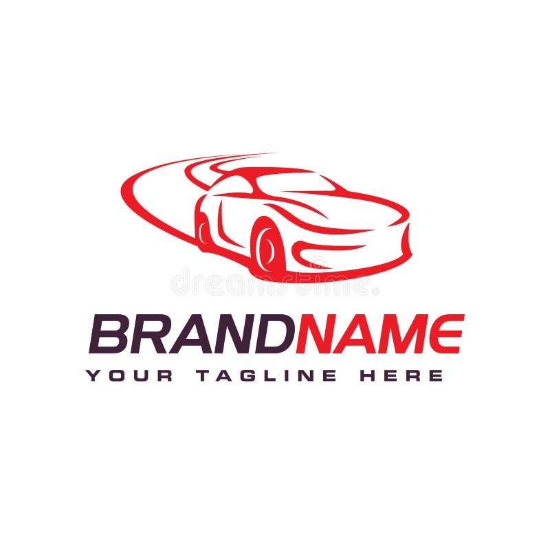 Logo de voiture de dérive, calibre des véhicules à moteur de conception de logo illustration libre de droits