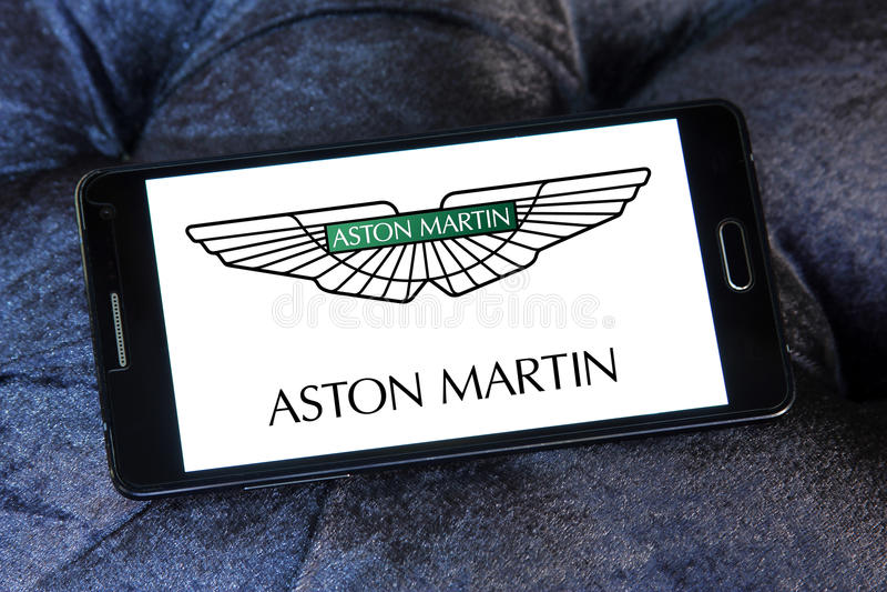 Logo de voiture d'Aston Martin photos libres de droits
