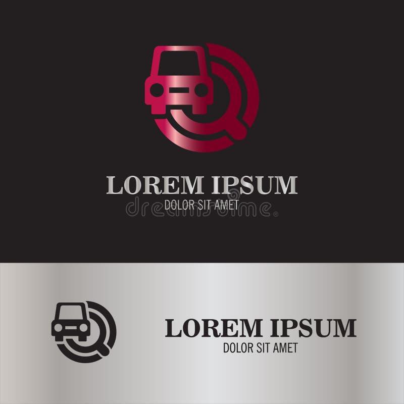 Logo de voiture de recherche illustration libre de droits