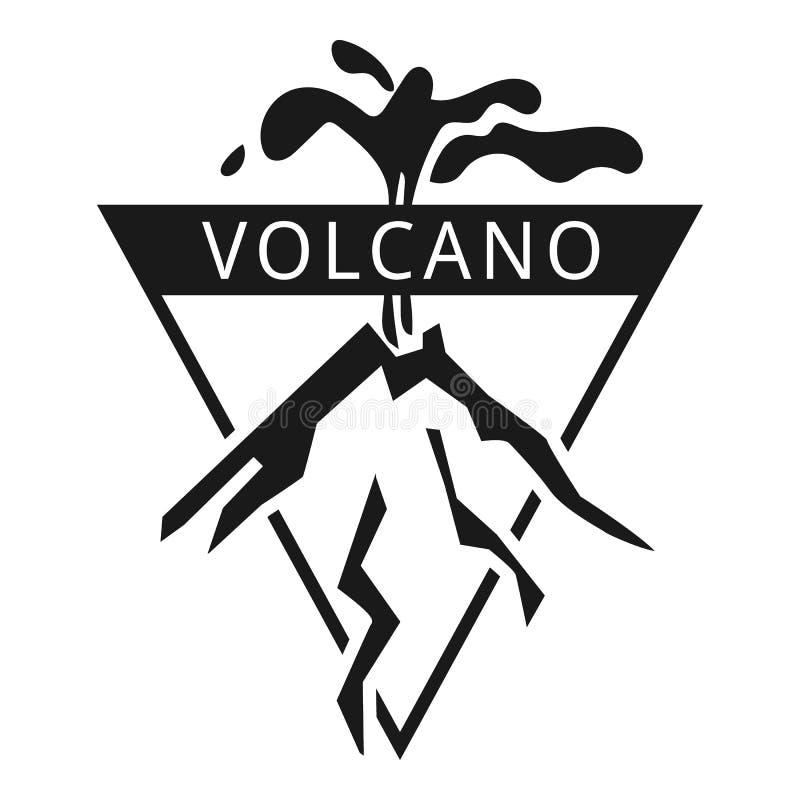 Logo de volcan d'île, style simple illustration stock