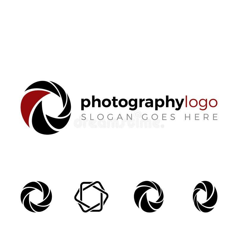 Logo de volet réglé pour la société de photographie illustration stock