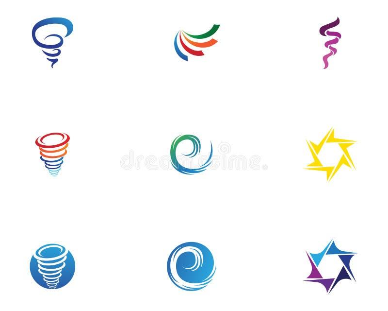 Logo de vortex et vecteur de symbole illustration stock