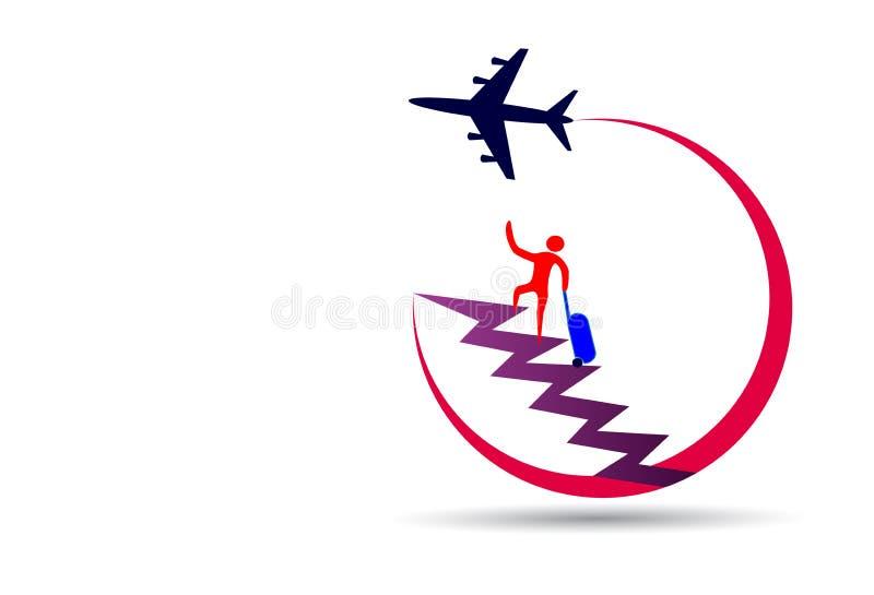 Logo de voyage illustration de vecteur