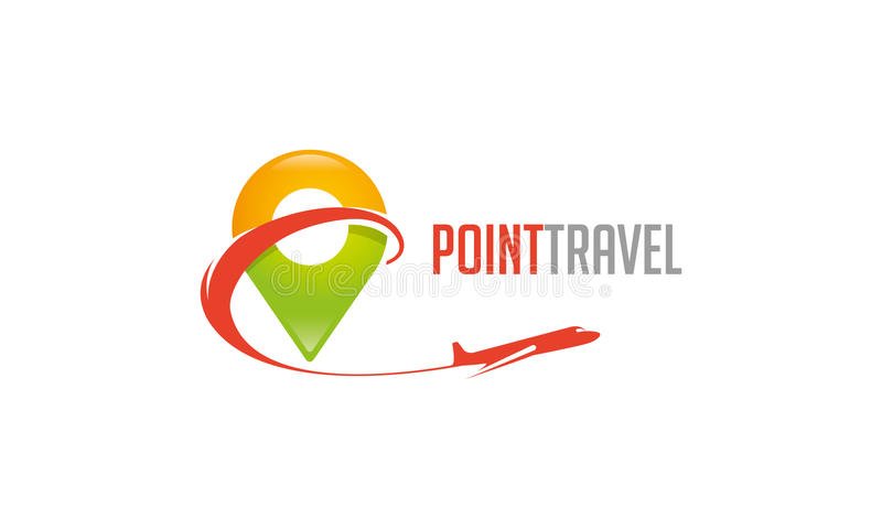 Logo de voyage de point illustration libre de droits
