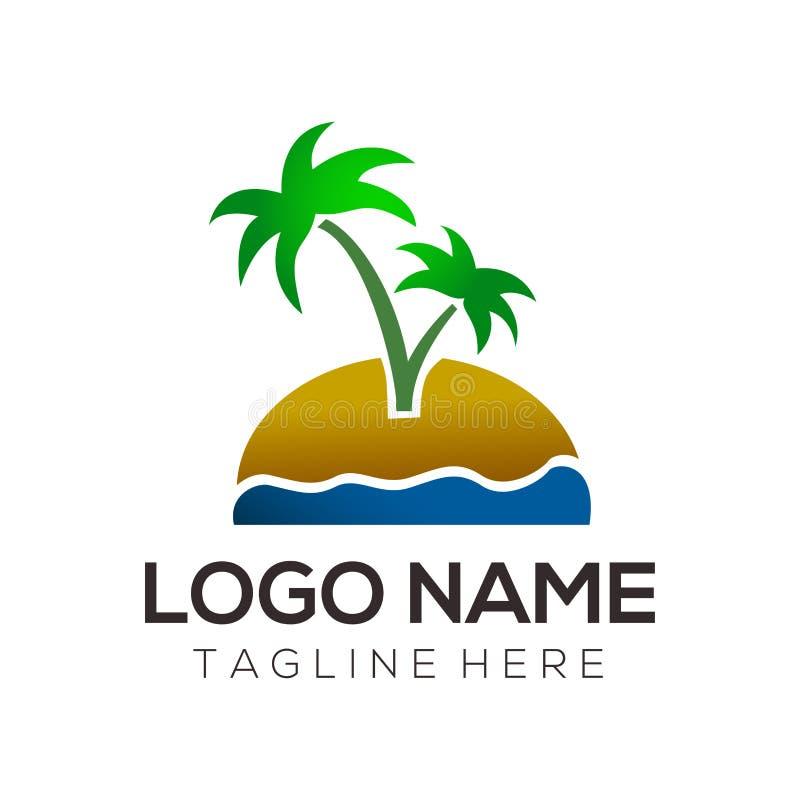 Logo de voyage et conception d'icône illustration de vecteur