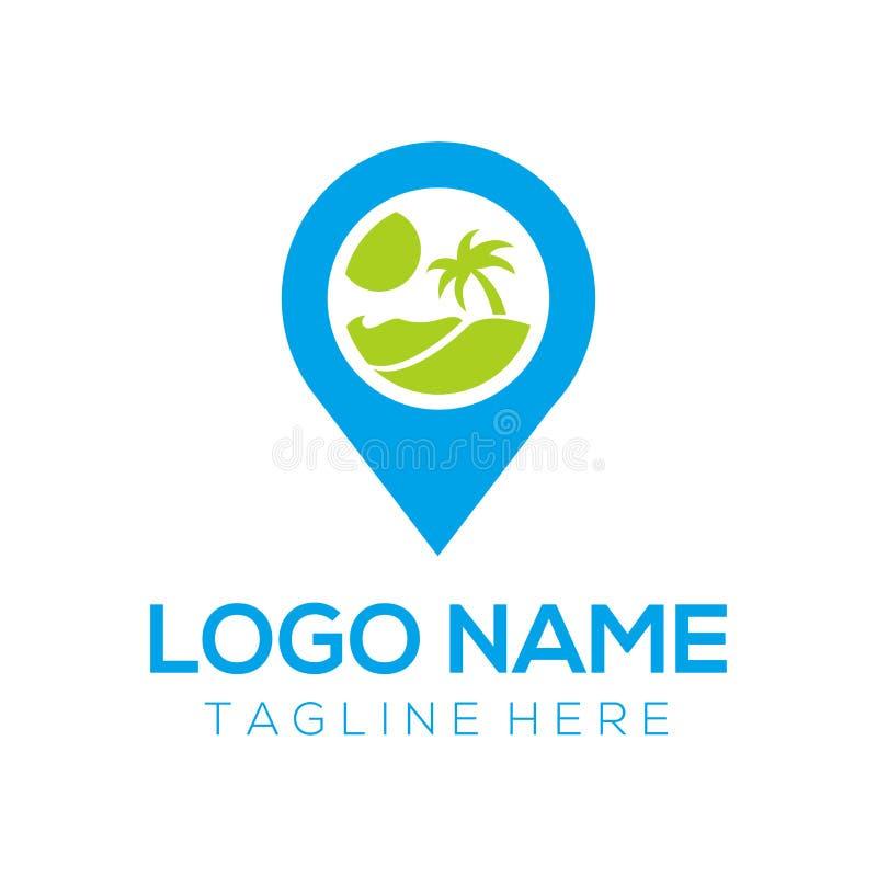 Logo de voyage et conception d'icône illustration libre de droits