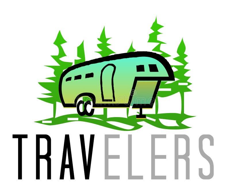 Logo de voyageurs photographie stock libre de droits