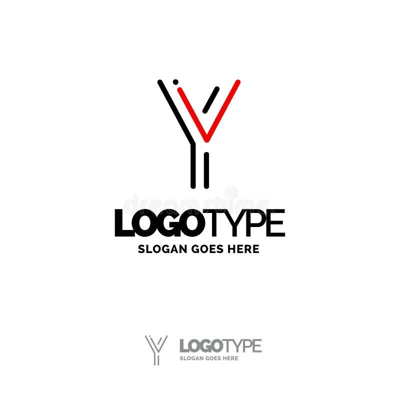 logo de y Digital Logo Template Calibre noir et rouge de logo, technologie illustration stock