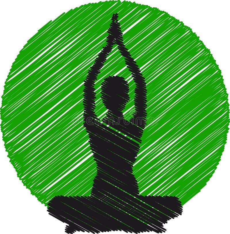 Logo de yoga illustration libre de droits