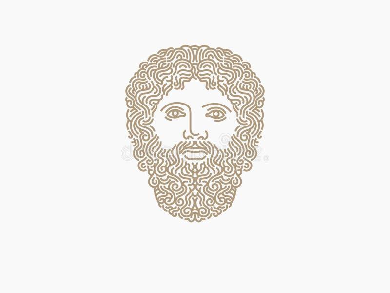 Logo de Zeus photographie stock libre de droits