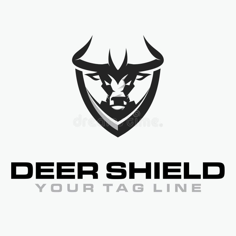 Deer Shield Logo royalty free stock photos