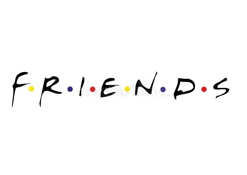 Logo degli amici illustrazione vettoriale