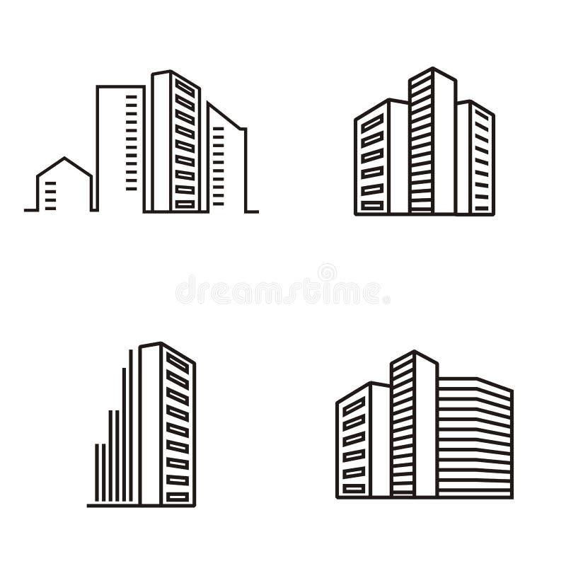 Logo degli appartamenti della costruzione illustrazione vettoriale