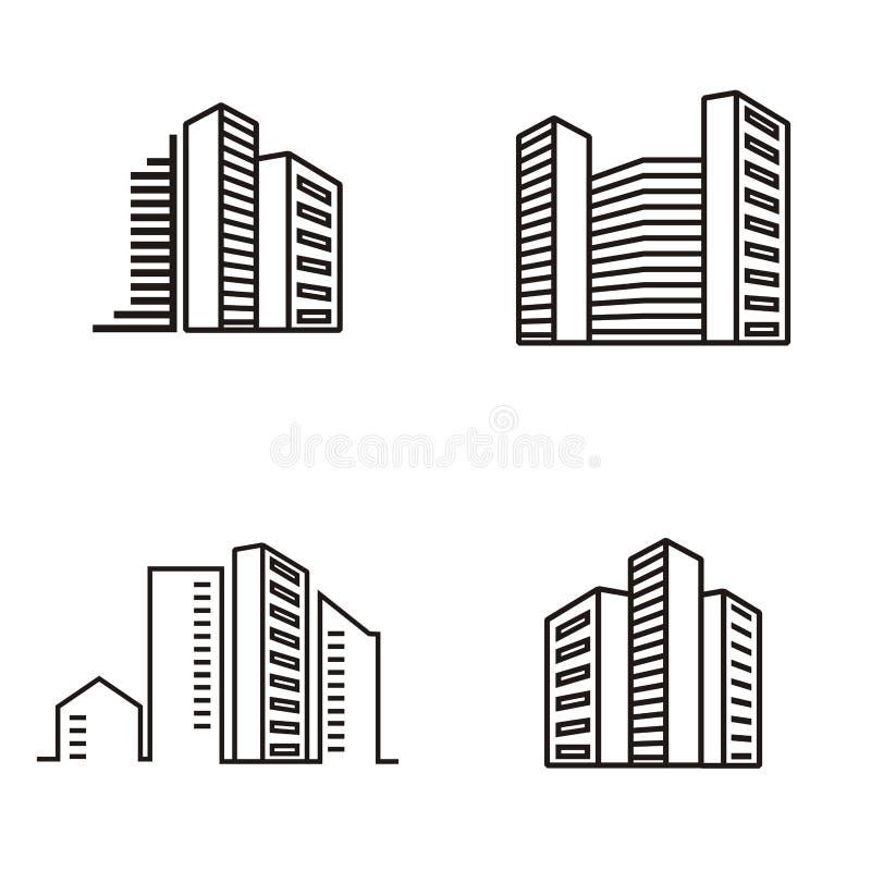Logo degli appartamenti della costruzione royalty illustrazione gratis