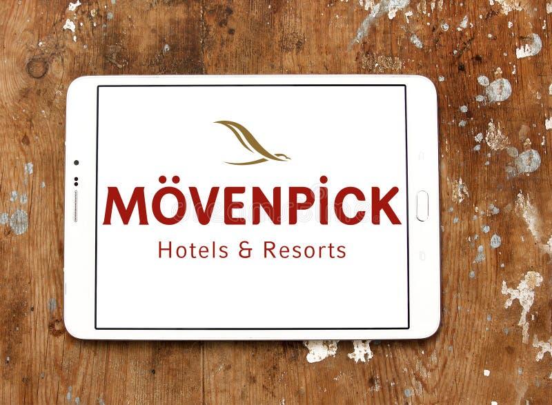 Logo degli hotel e delle località di soggiorno di Mövenpick fotografia stock