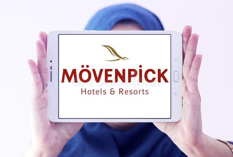 Logo degli hotel e delle località di soggiorno di Mövenpick immagine stock