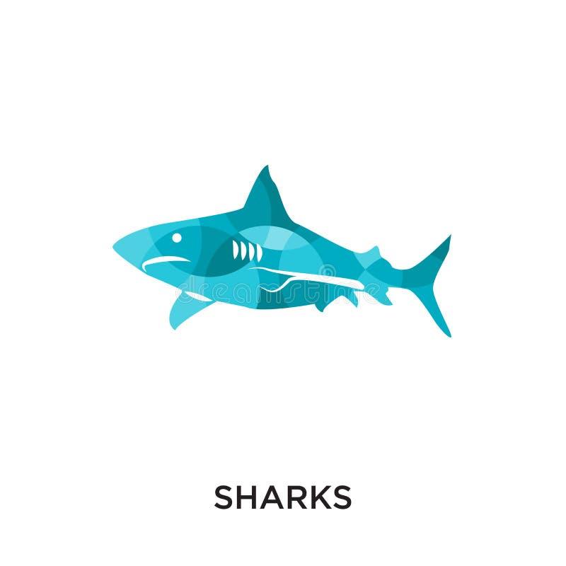 logo degli squali isolato su fondo bianco per il vostro web, cellulare royalty illustrazione gratis