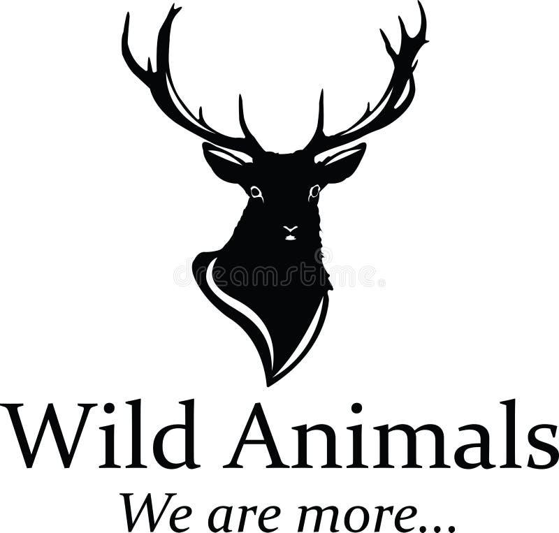 Logo dei cervi illustrazione vettoriale