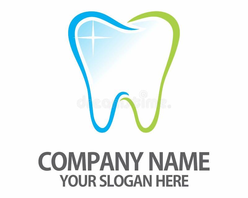 Logo dei dentisti del dente di Teet immagine stock