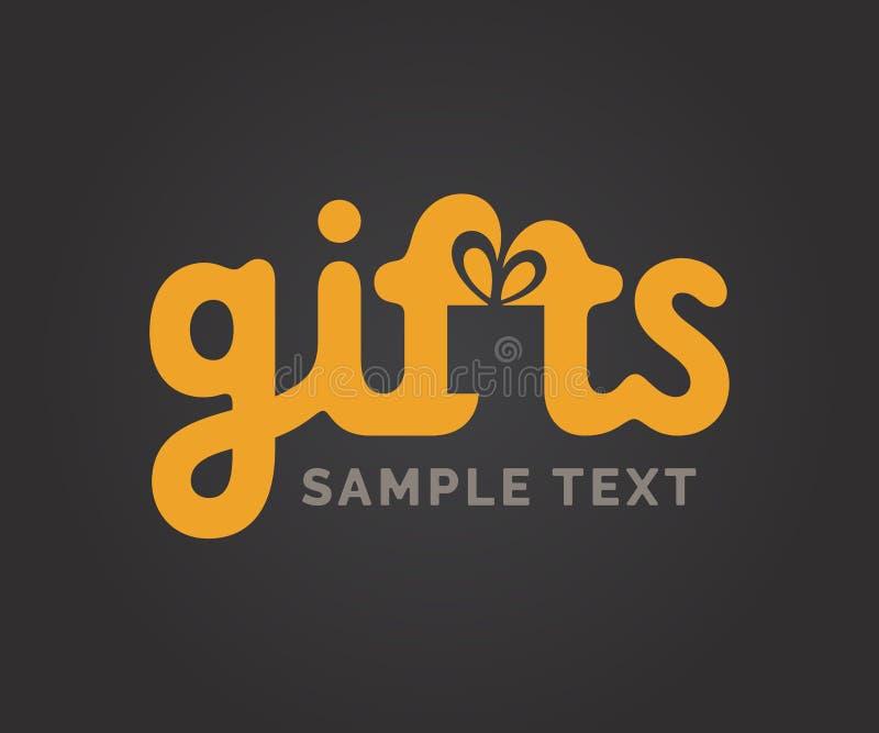 Logo dei regali con il simbolo della scatola royalty illustrazione gratis