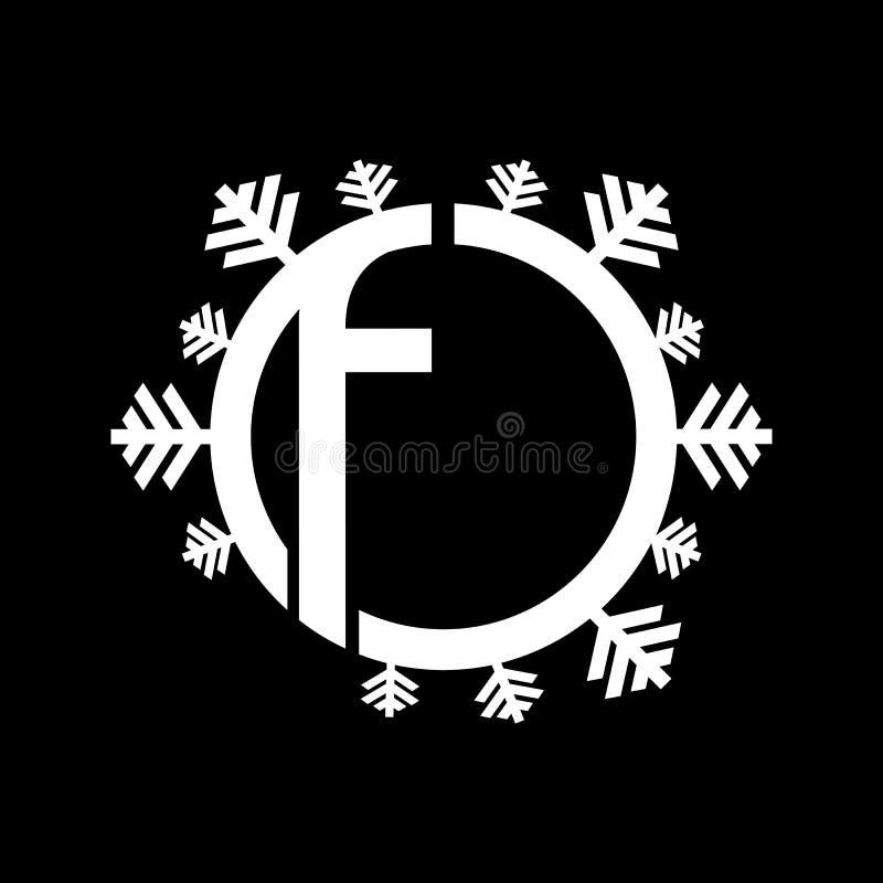 Logo dei sistemi di raffreddamento, icone di servizio del condizionamento d'aria, clima co illustrazione vettoriale