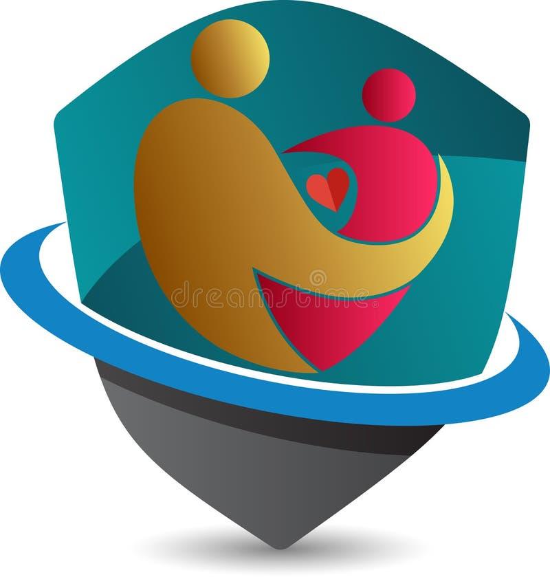 Logo del bambino e della madre illustrazione di stock