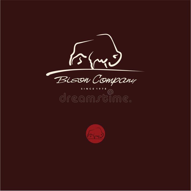 Logo del bisonte royalty illustrazione gratis