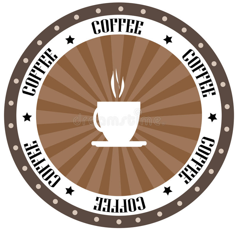 Logo del caffè royalty illustrazione gratis
