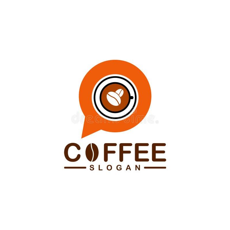 Logo del caffè di chiacchierata immagini stock libere da diritti