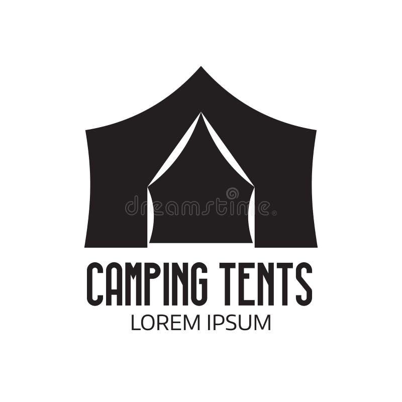 Logo del campo o icona turistico della tenda royalty illustrazione gratis