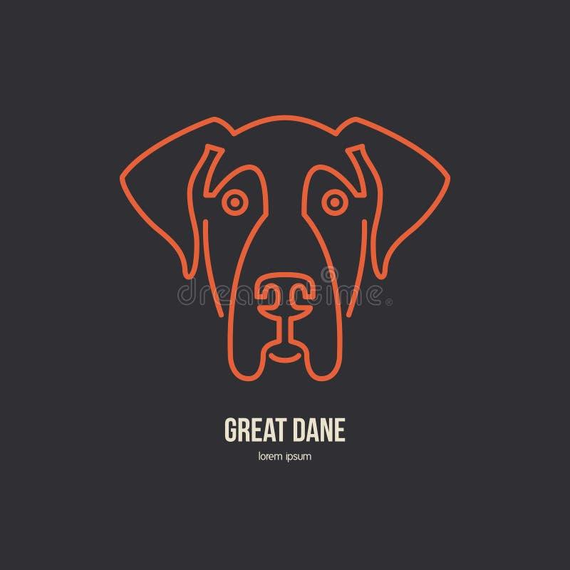 Logo del cane illustrazione vettoriale