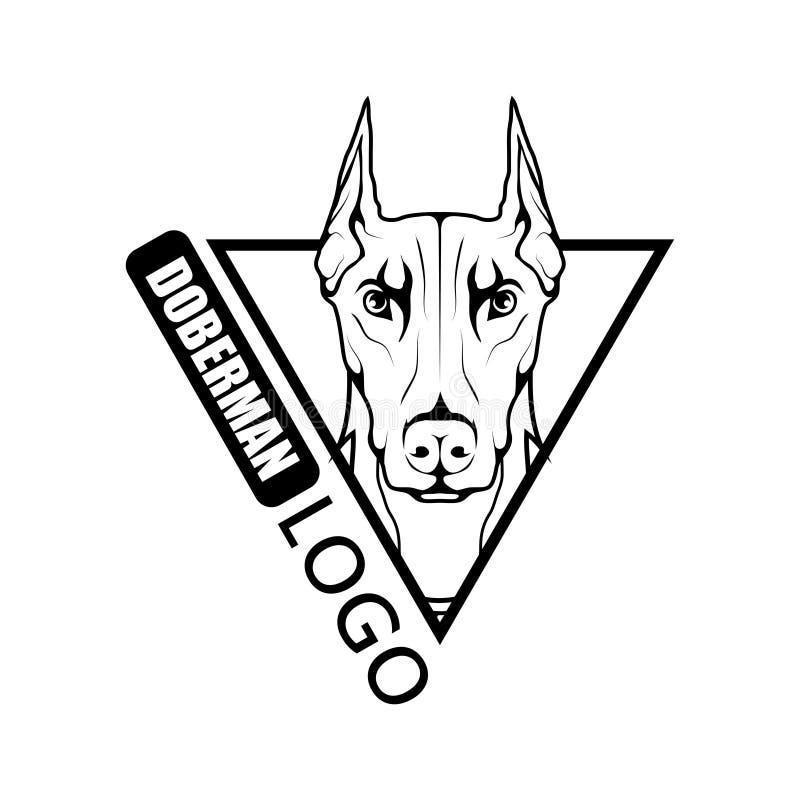 Logo del cane del doberman illustrazione vettoriale