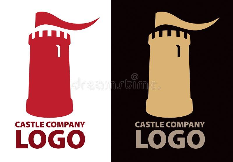 Logo del castello illustrazione di stock