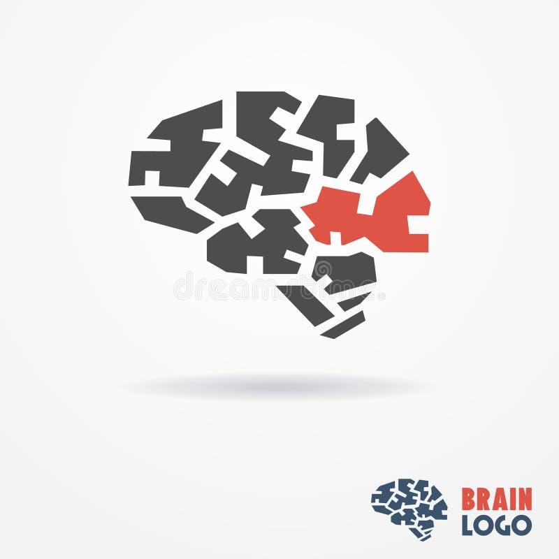 Logo del cervello illustrazione di stock