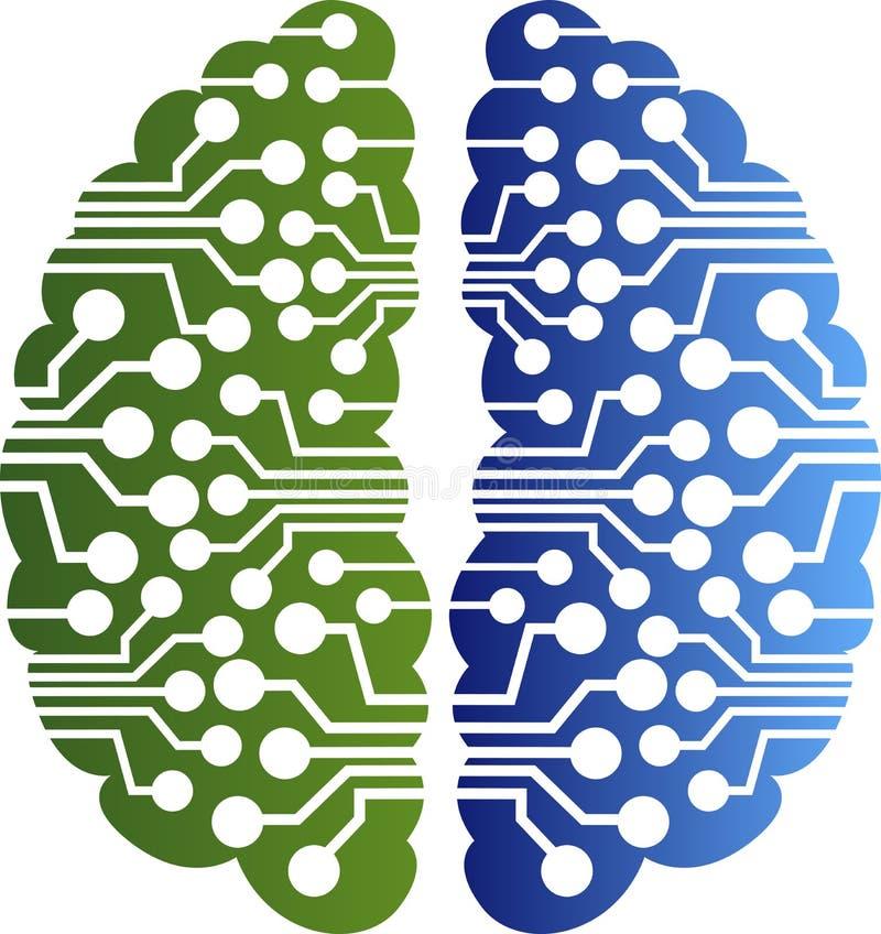 Logo del circuito del cervello illustrazione vettoriale