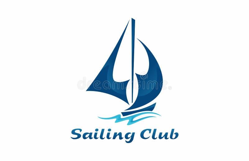 Logo del club di navigazione illustrazione di stock