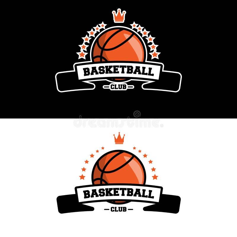 Logo del club di pallacanestro fotografie stock libere da diritti
