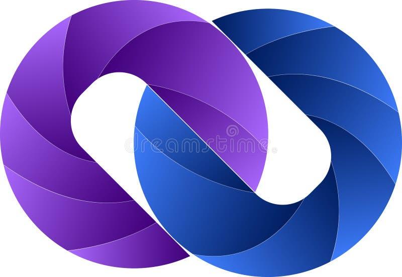 Logo del collegamento a catena illustrazione di stock