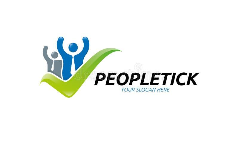 Logo del controllo della gente illustrazione di stock