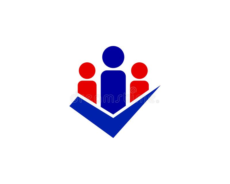 Logo del controllo di Team Smart People illustrazione di stock