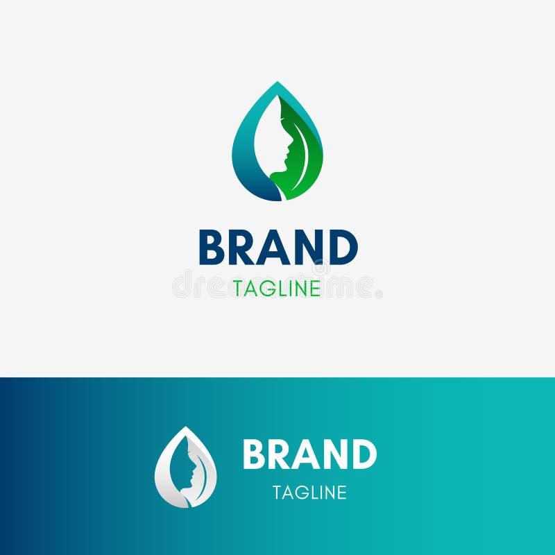 Logo del cosmetico di bellezza illustrazione di stock